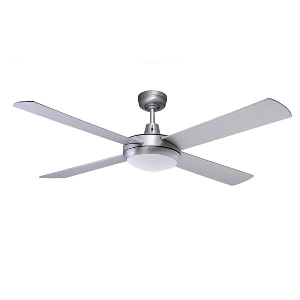 brushed-aluminium urban 2 ceiling fan- with light