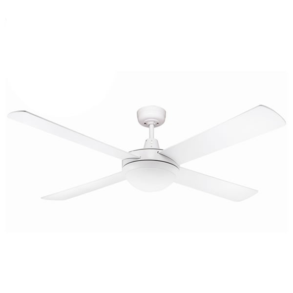 white urban ceiling fan with light