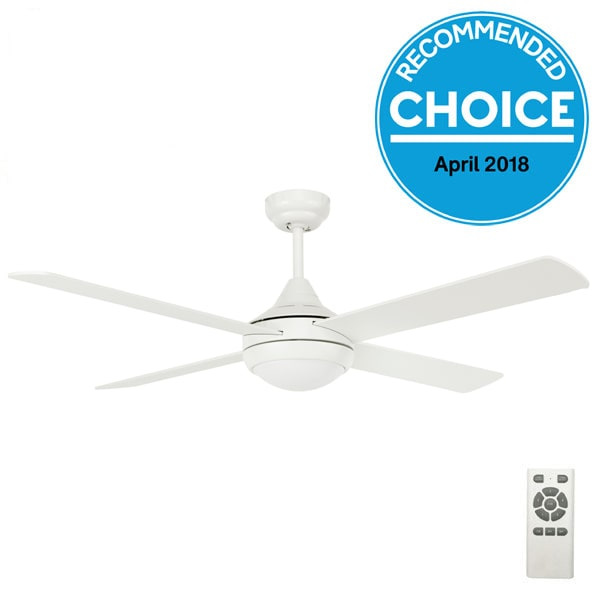 Fanco Eco Silent DC Ceiling Fan with Remote & LED light - White 52