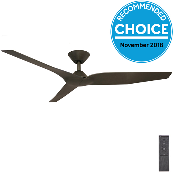 black infinity ceiling fan