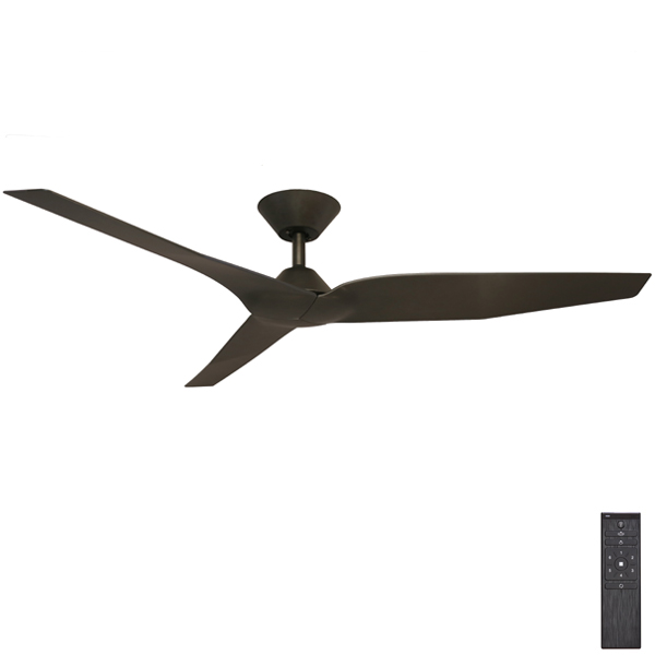 Black Infinity Dc Ceiling Fan With Remote By Fanco