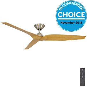 brushed timber infinity ceiling fan