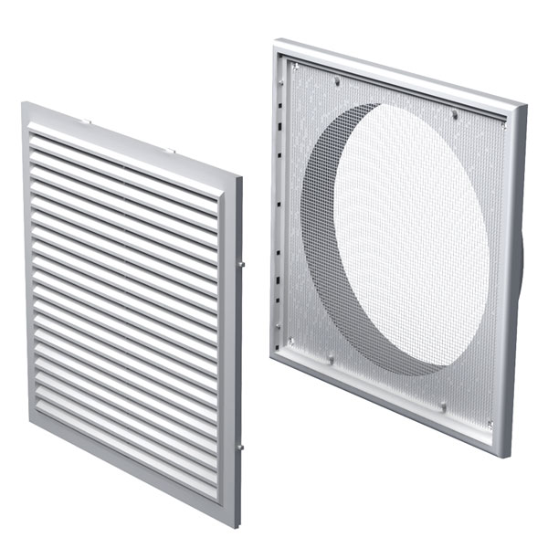 Plastic Flyscreen Vent - 200mm - Universal Fans