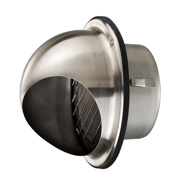 Stainless Steel Dome Vent 100mm Universal Fans