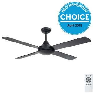 eco silent ceiling fan black