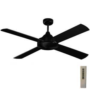 Milano ceiling fan black with remote