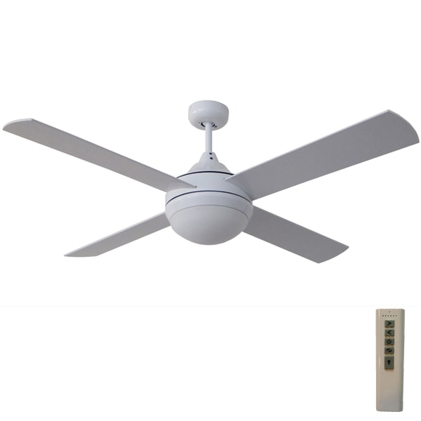 Milano dc ceiling fan with led light remote white 52 home ceiling fans mozeypictures Gallery