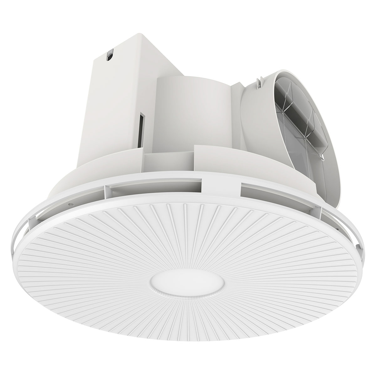brilliant helios round led ceiling exhaust fan white. Black Bedroom Furniture Sets. Home Design Ideas