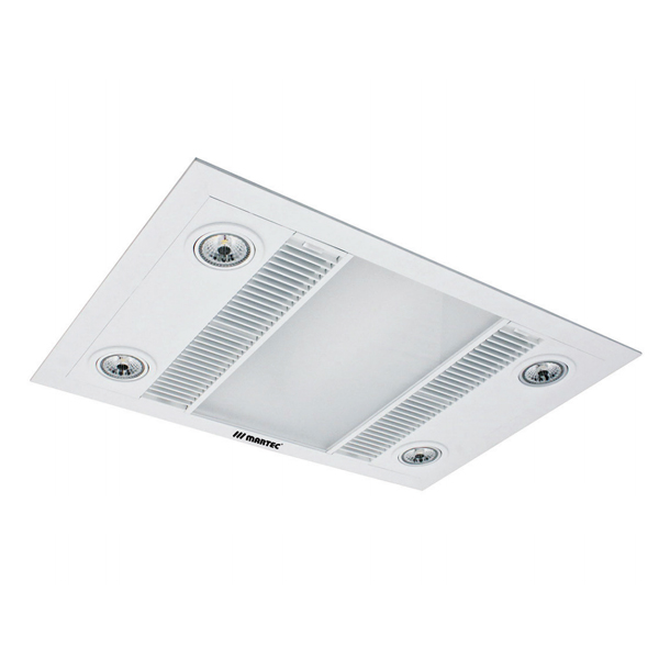 3 Tips For Better Bath Lighting At Lumens Com: Martec Linear Exhaust Fan White