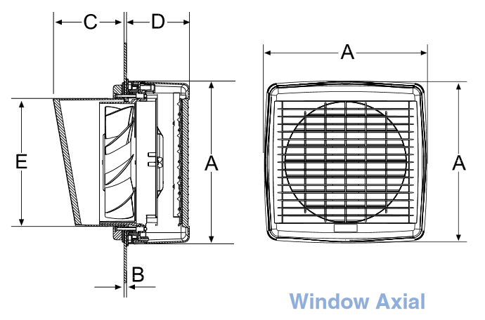 airflow window fan dimensions