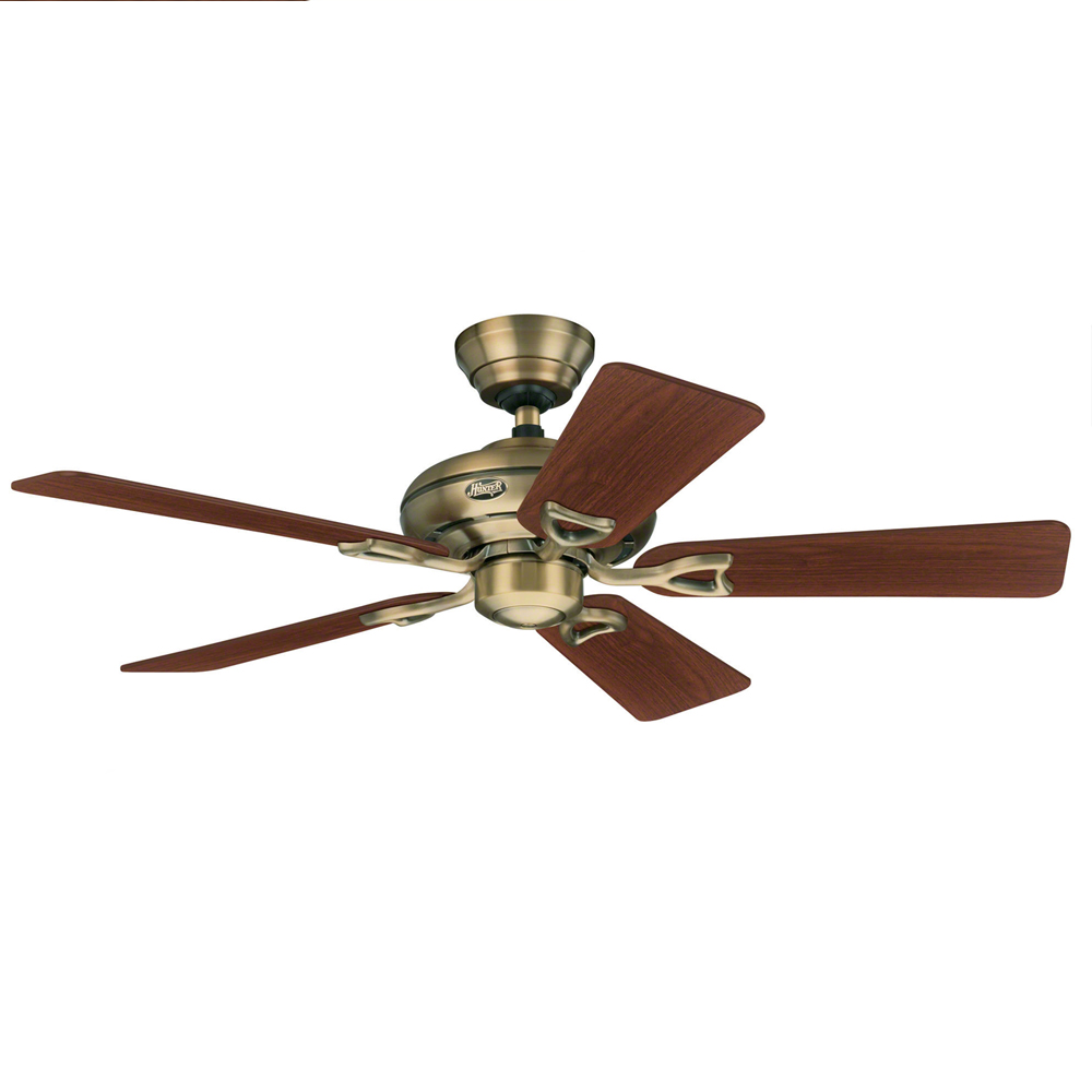 Hunter seville ii ceiling fan antique brass 44 universal fans home ceiling fans hunter ceiling fans seville ii ceiling fans aloadofball Choice Image