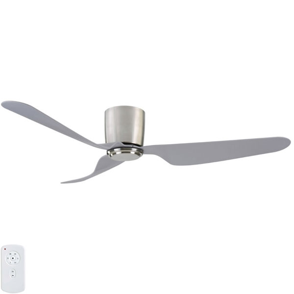 Brushed Chrome city dc ceiling fan