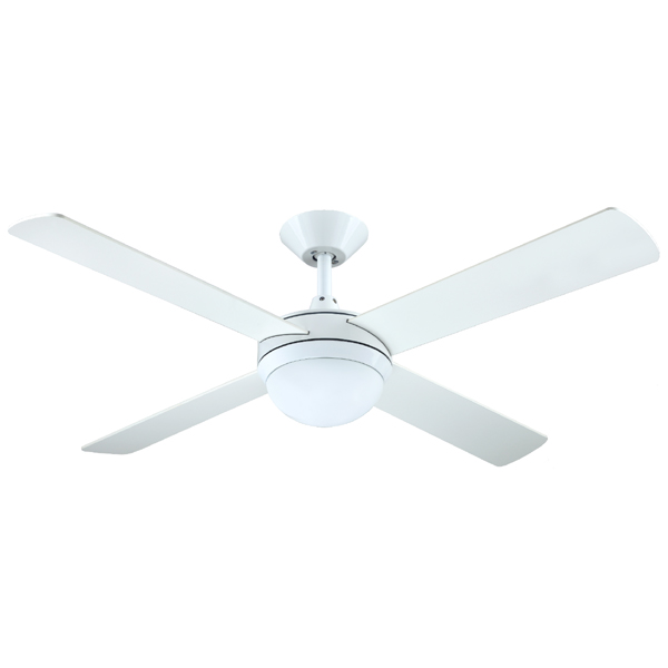 White Intercept 2 ceiling fan with light