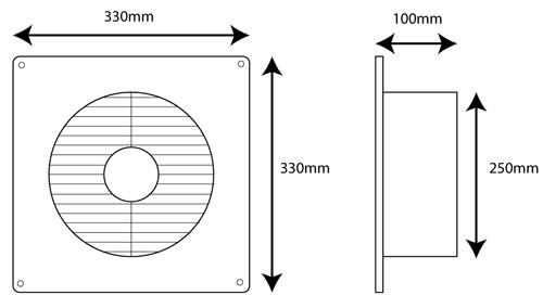 edmonds ecofan dimensions