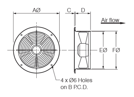 fantech ring plate dimensions