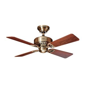 antique brass bayport ceiling fan