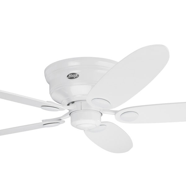 Hunter low profile iii ceiling fan white 52 universal fans all hunter low profile models aloadofball Image collections
