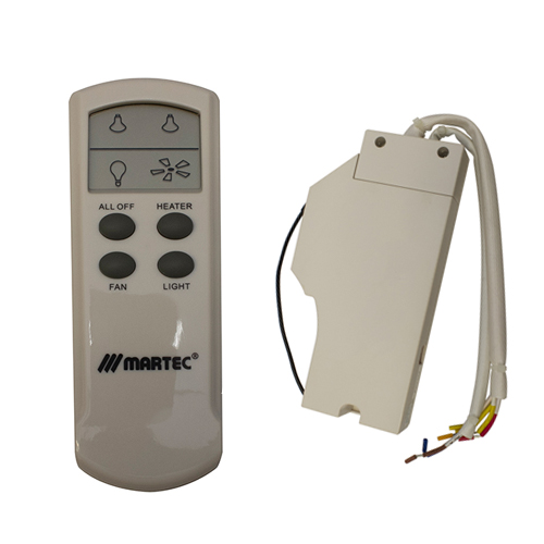 Martec Lcd Remote Control For 3 In 1, Bathroom Heater Fan Light With Remote Control