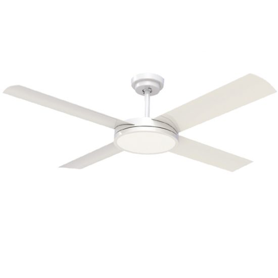 white revolution 3 ceiling fan with light