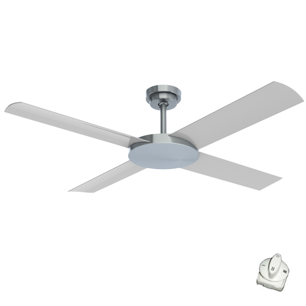 Brushed Aluminium revolution 3 ceiling fan