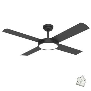 brushed aluminium revolution 3 ceiling fan with light
