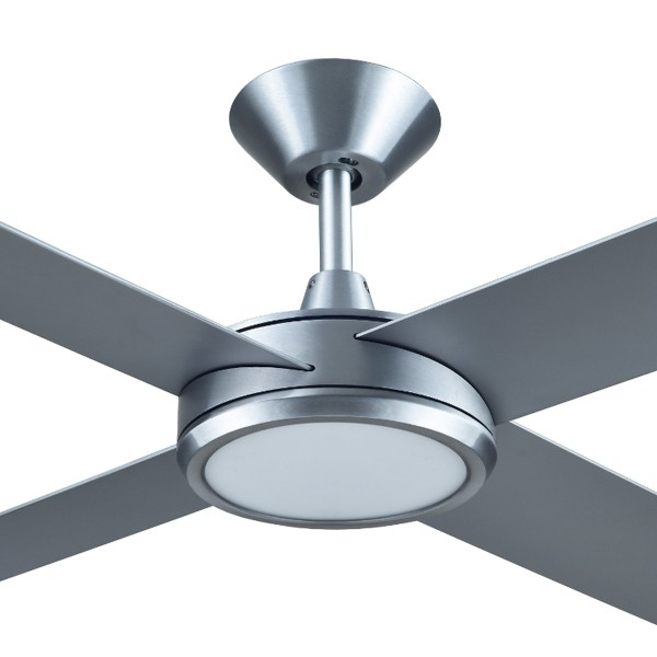 Concept 3 ceiling fan led light brushed aluminium 52 universal fans concept 3 ceiling fan aloadofball Gallery