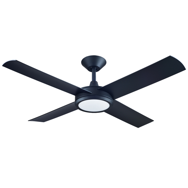 Concept 3 Ceiling Fan With Led Light Matte Black 52