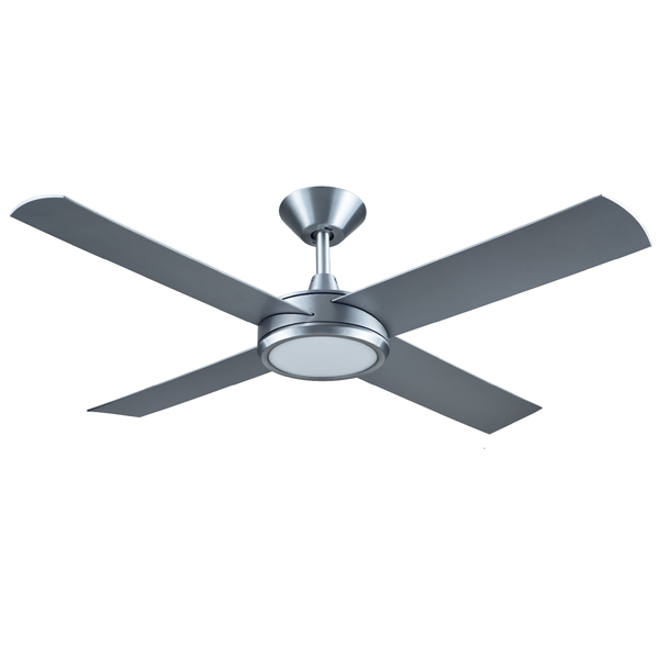 Hunter pacific brushed aluminum concept 3 ceiling fan with light