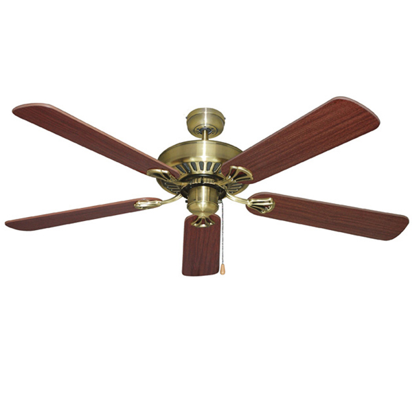 Mercator hayman ceiling fan antique brass 52 universal fans home ceiling aloadofball Choice Image