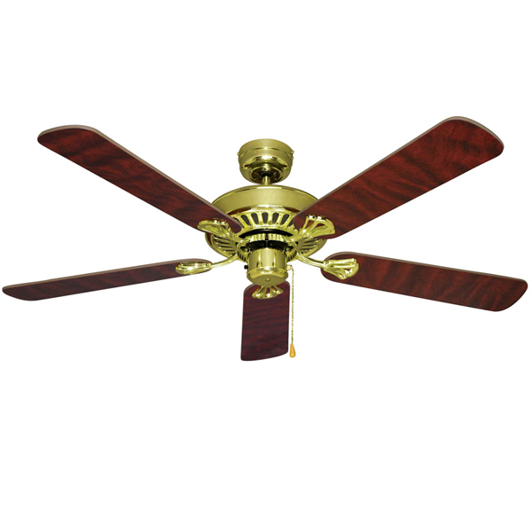 polished brass hayman ceiling fan