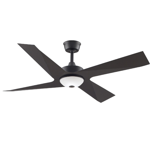black modn 4 ceiling fan with light