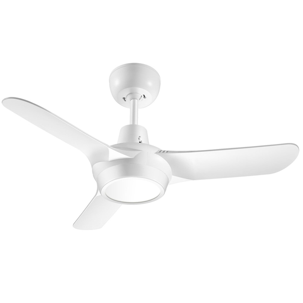 white spyda ceiling fan with light 36 inch