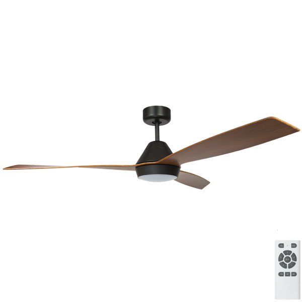 black with koa eco breeze ceiling fan