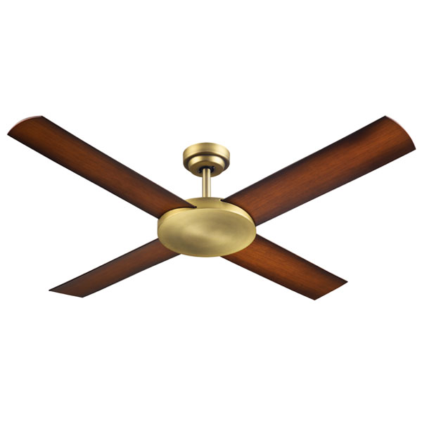 Antique Brass Revolution 3 Ceiling fan