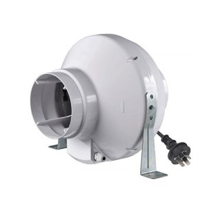 VK ABS Centrifugal Inline Fan 200 with plug