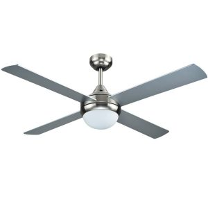 Brushed Nickel Azure Ceiling fan with Light