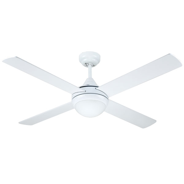 white azure ceiling fan with light