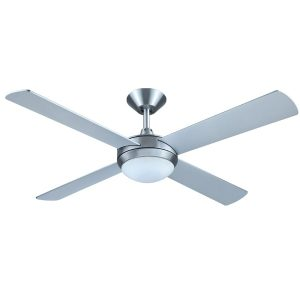 Brushed Aluminium Intercept 2 Ceiling fan With light