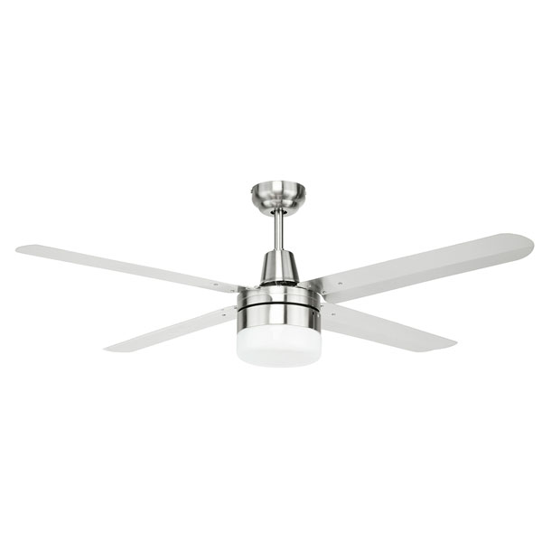 Brilliant atrium 48 inch ceiling fan with light & stainless steel blades