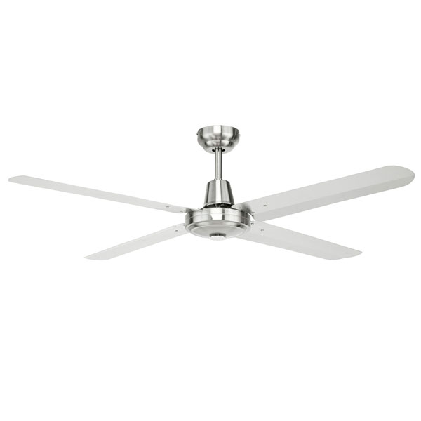 Brilliant Atrium 48 inch ceiling fan with stainless steel blades