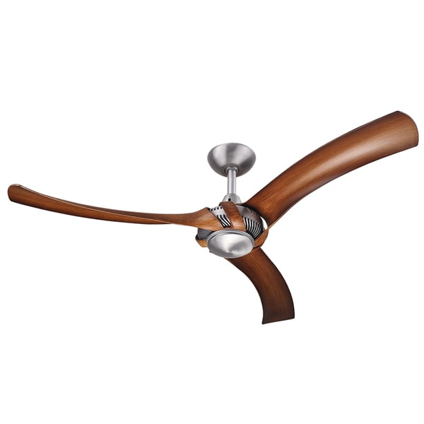 Aeraforce 2 ceiling fan brushed aluminium with koa blades 52 inch