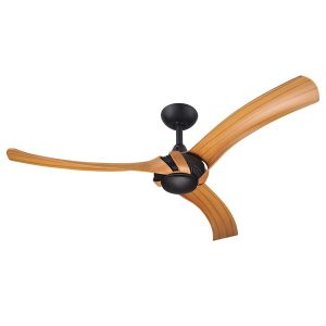 aeroforce 2 ceiling fan matte black bamboo blades