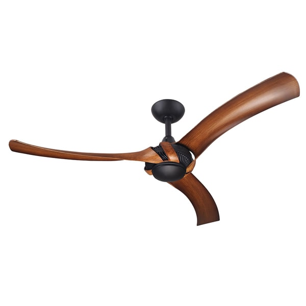 Aeroforce 2 Ceiling Fan Matte Black Koa Blades