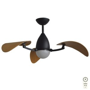 vampire ceiling fan black with bamboo