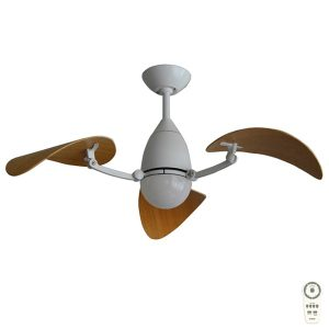 vampire white bamboo ceiling fan