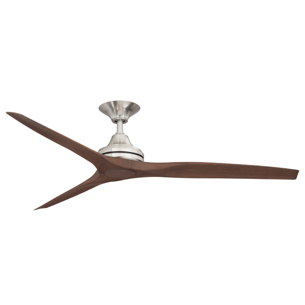 spitfire ceiling fan with nickel motor and walnut plastic blades