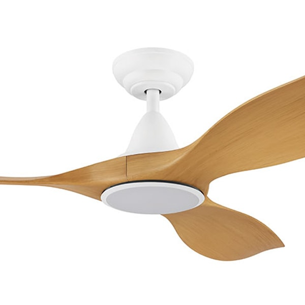 Eglo Noosa Dc Ceiling Fan Remote Cct Led White With Bamboo 60