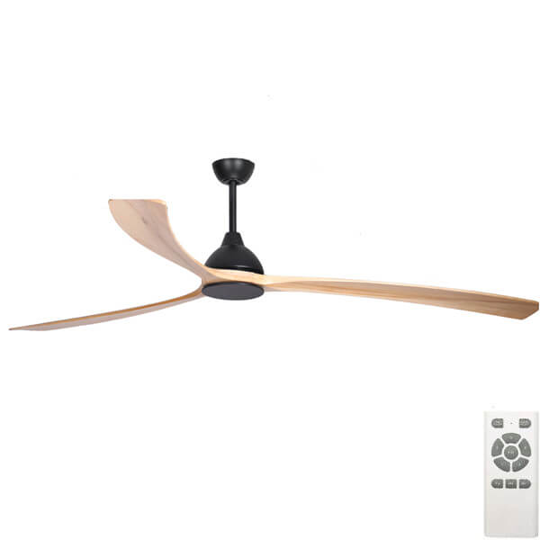 Sanctuary DC Ceiling fan by Fanco Black and Natural