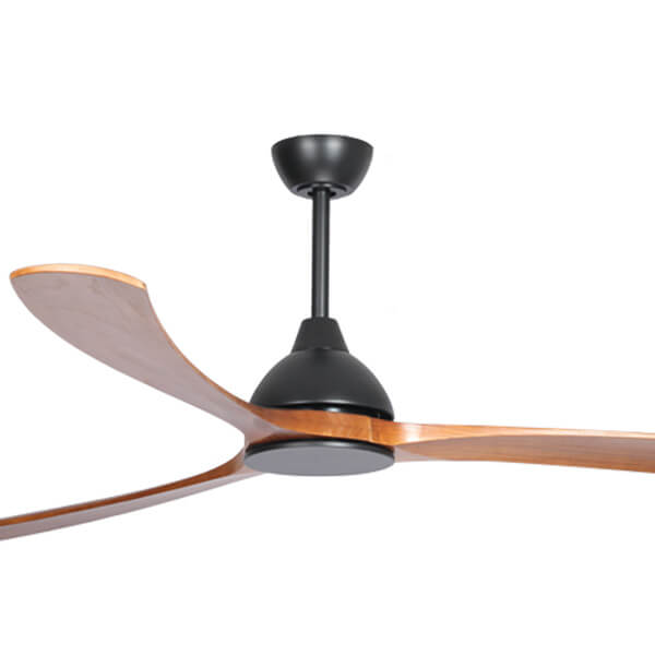 Fanco Sanctuary DC Ceiling fan Black with teak blades