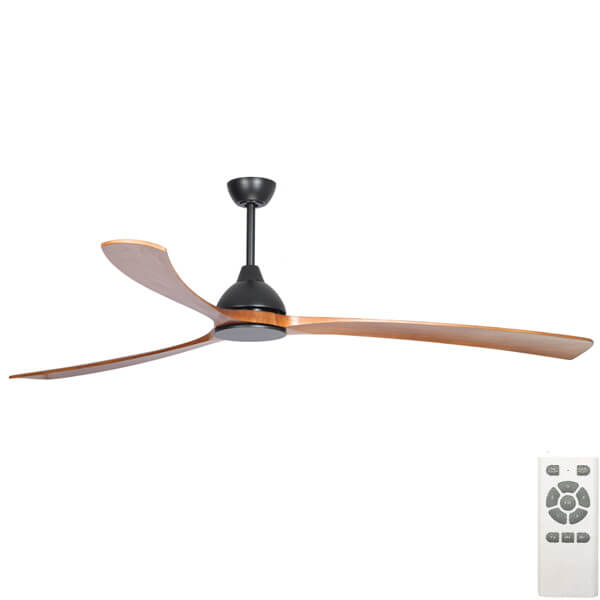 Fanco Sanctuary DC Ceiling fan Black and Teak